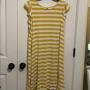 Ruffle Sleeve Shirt Dress